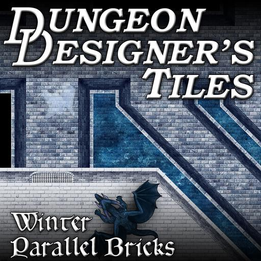 Dungeon Designers Tiles - Winter Parallel Bricks