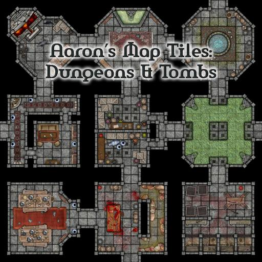 Aaron's Map Tiles: Dungeons & Tombs