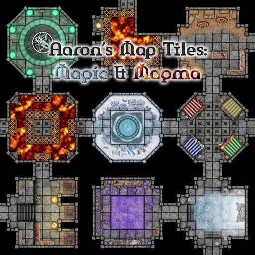 Aaron's Map Tiles: Magic & Magma