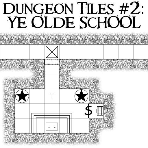 Dungeon Tiles 2- Ye Olde School