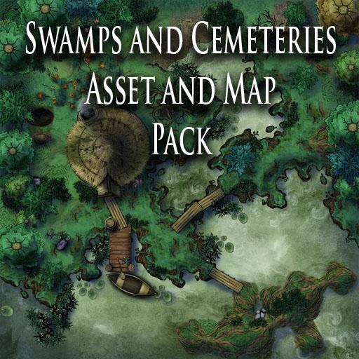 Swamps and Cemeteries Asset and Map Pack