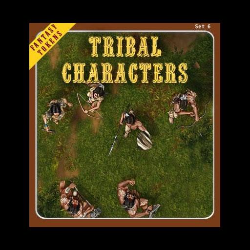 Fantasy Tokens Set 6, Tribal Characters