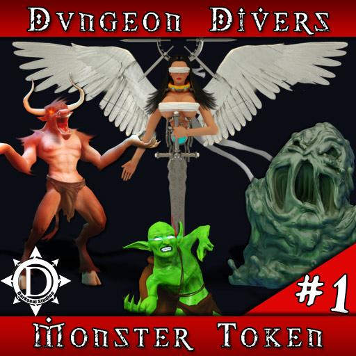 Dungeon Divers Monster Token Set 1