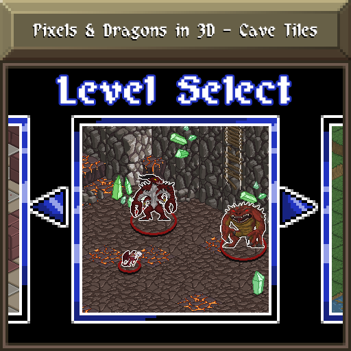 Pixels and Dragons in 3D - Cave Tiles