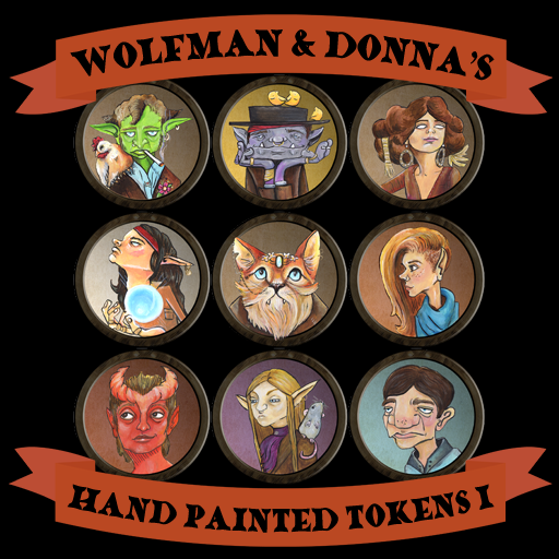 Hand Painted Tokens I