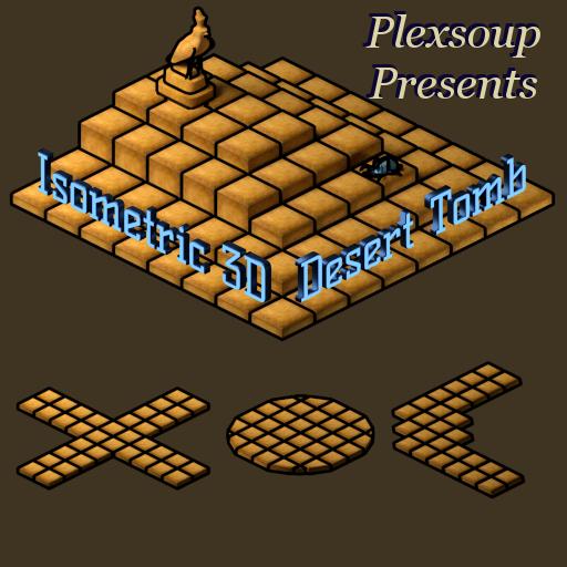 Isometric 3D Desert Tomb