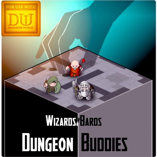 Dungeon Buddies Fantasy Tokens - Wizards and Bards