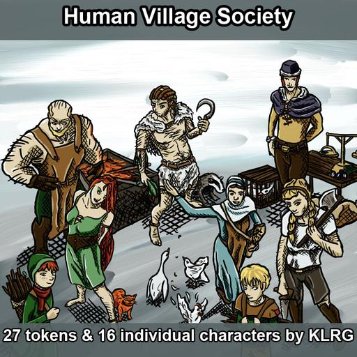 KLRG Token Pack 4 - Human Village Society