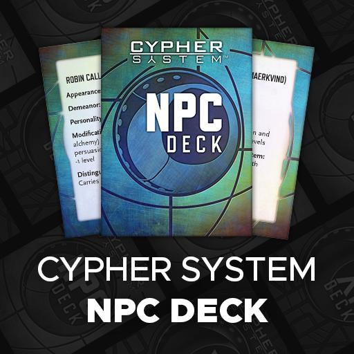 Cypher System NPC Deck