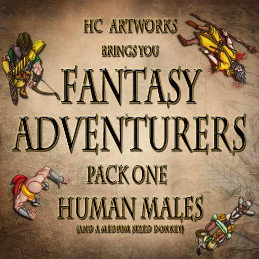 Fantasy Adventurers Pack One Human Males