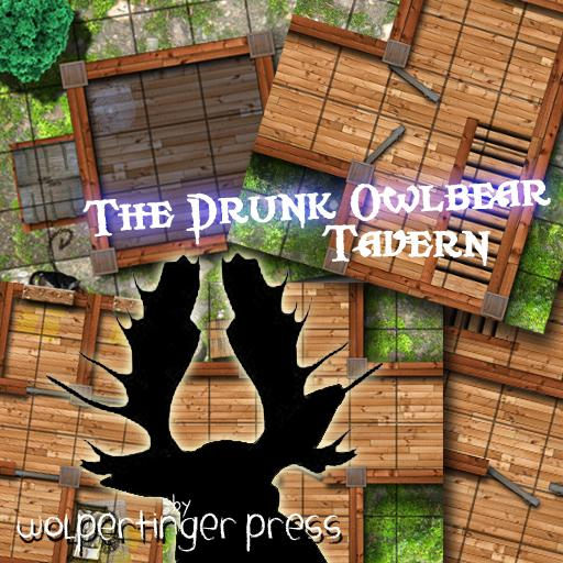 The Drunk Owlbear Tavern Dungeon-On-Demand Map Pack