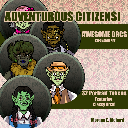 Adventurous Citizens - Awesome Orcs Token Set