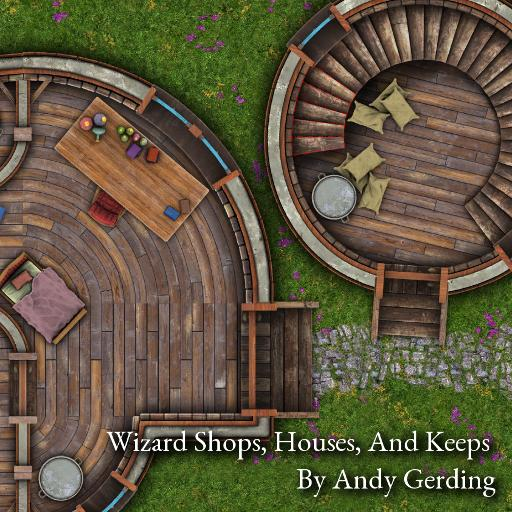 Wizard Shops, Houses and Keeps