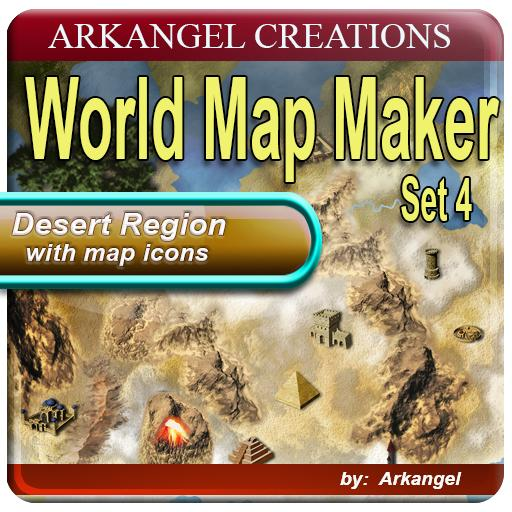 World Map Maker Set 4: Desert Region