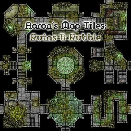 Aaron's Map Tiles: Ruins & Rubble