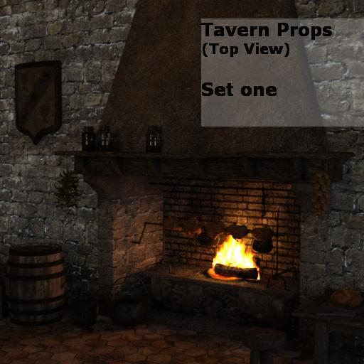 Tavern Props: (top view) Set one