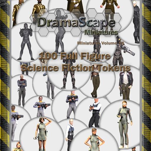 100 SciFi Full Figure Tokens