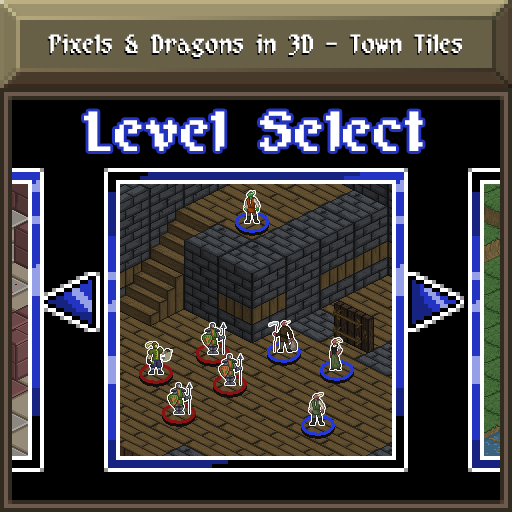 Pixels and Dragons in 3D - Town Tiles