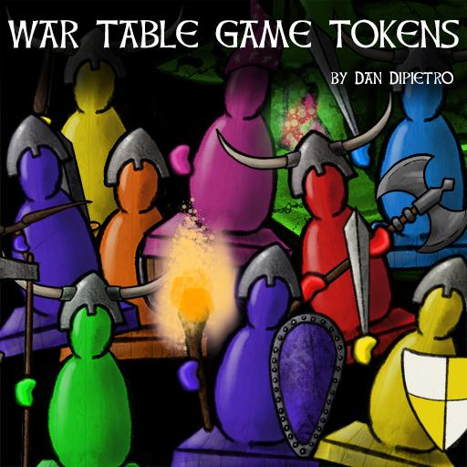 War Table Game Tokens