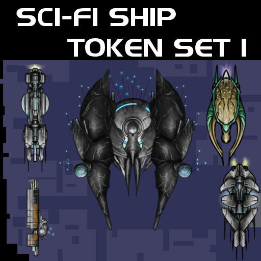 Sci-fi Ship Token Set 1