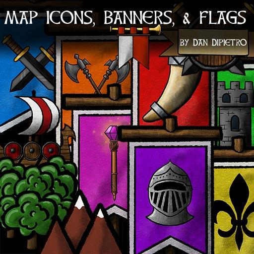 Map Icons, Banners, & Flags