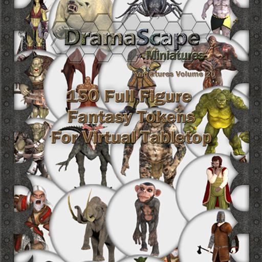 150 Fantasy Full Figure Tokens