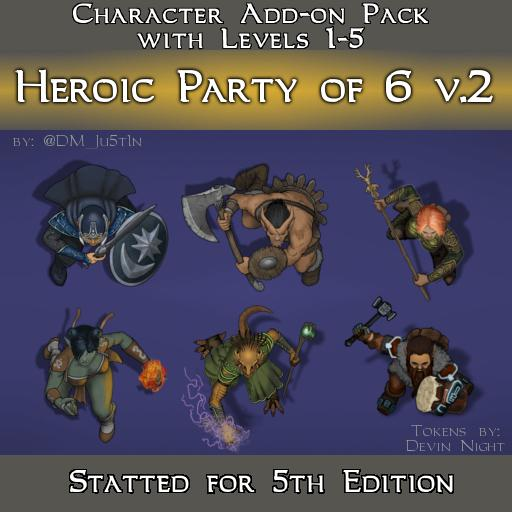 Heroic Party of 6 v2