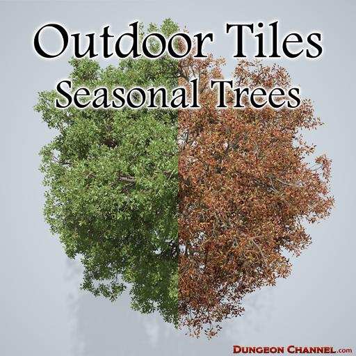 Outdoor Tiles: Seasonal Trees