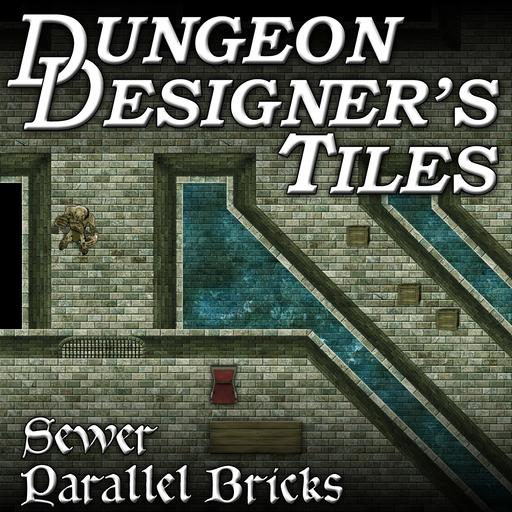 Dungeon Designers Tiles - Sewer Parallel Bricks