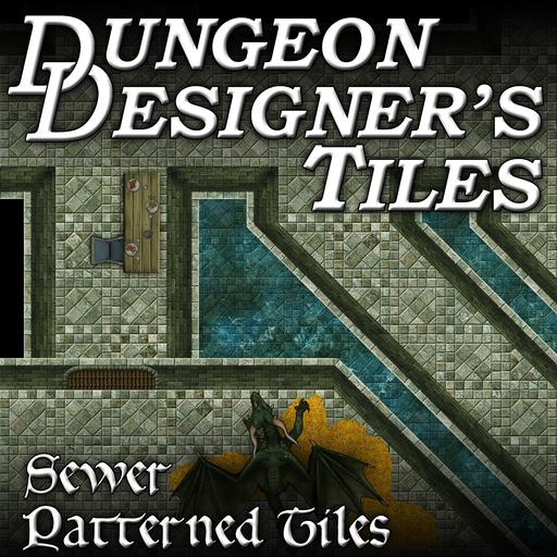 Dungeon Designers Tiles - Sewer Patterned Tiles