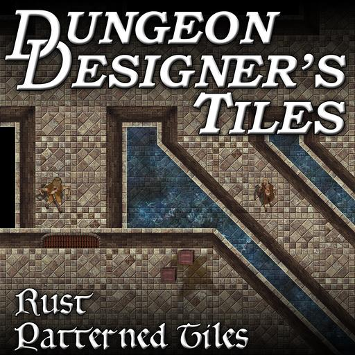 Dungeon Designers Tiles - Rust Patterned Tiles
