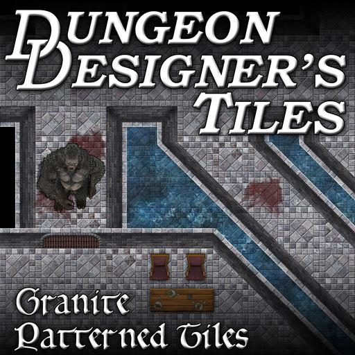 Dungeon Designers Tiles - Granite Patterned Tiles