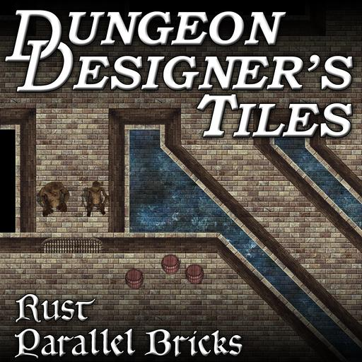 Dungeon Designers Tiles - Rust Parallel Bricks