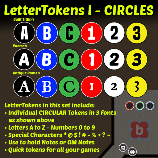 Letter Tokens I: CIRCLES