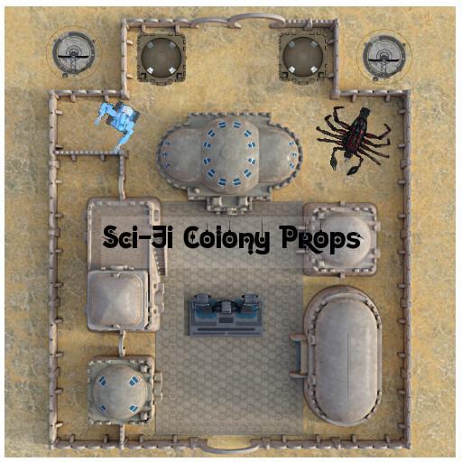 Sci-Fi Colony Props