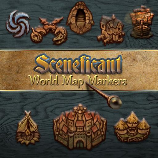 Sceneficant World Map Markers