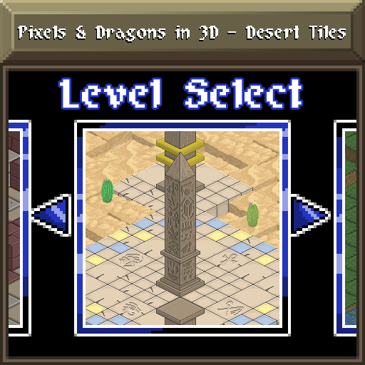 Pixels and Dragons in 3D - Desert Tiles