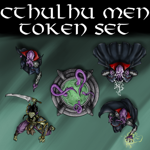 Cthulhu Men Token Set