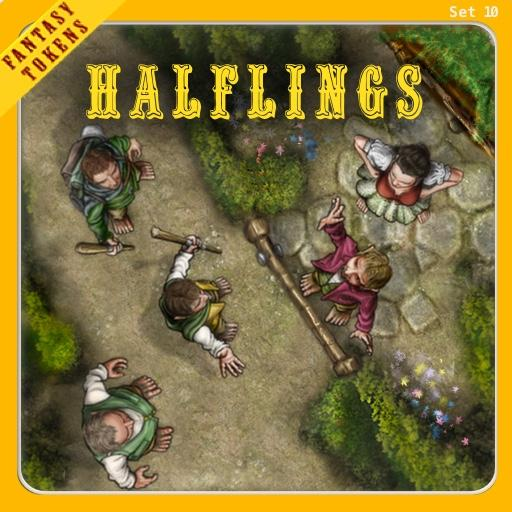 Fantasy Tokens Set 10 Halflings