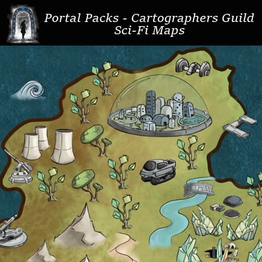 Portal Packs - Cartographers Guild - Sci-Fi Maps
