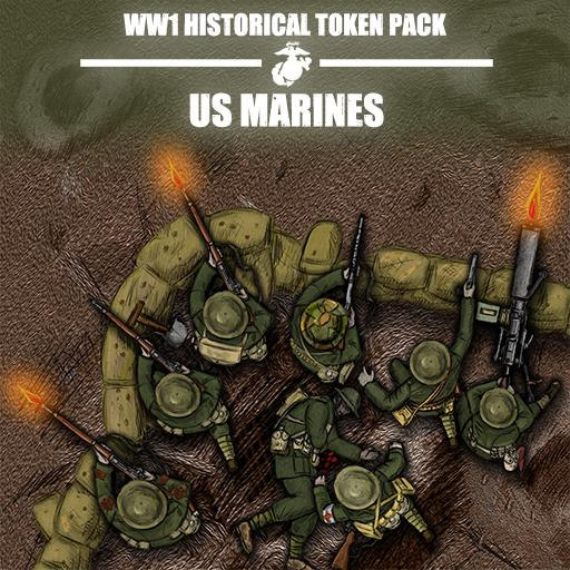 WW1 Historical Token Pack: Doughboys