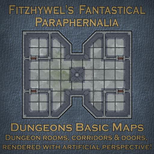 Fitzhywel's Fantastical Paraphernalia Dungeons Basic Maps