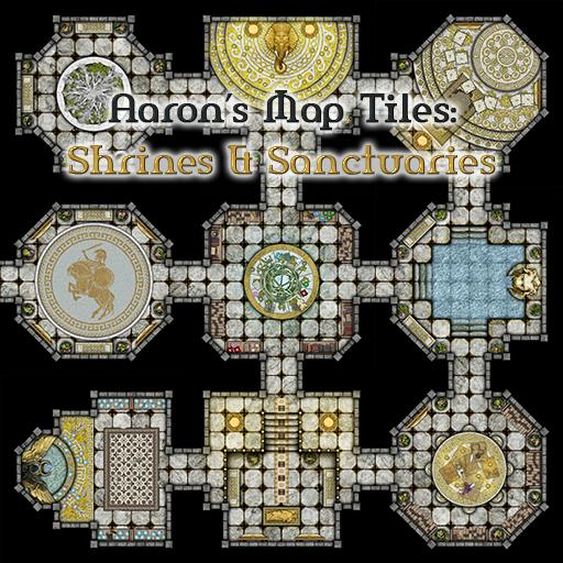 Aaron's Map Tiles: Shrines & Sanctuaries