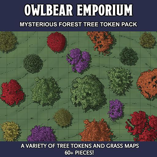 Mysterious Forest Tree Token Pack
