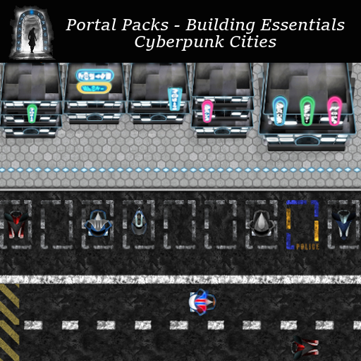 Portal Packs - Building Essentials - Cyberpunk Cities