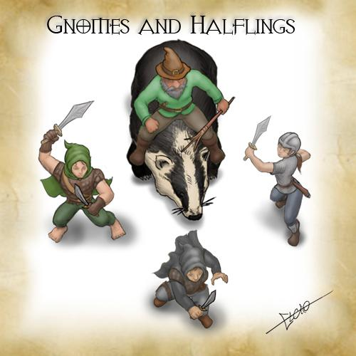 Gnomes and Halflings