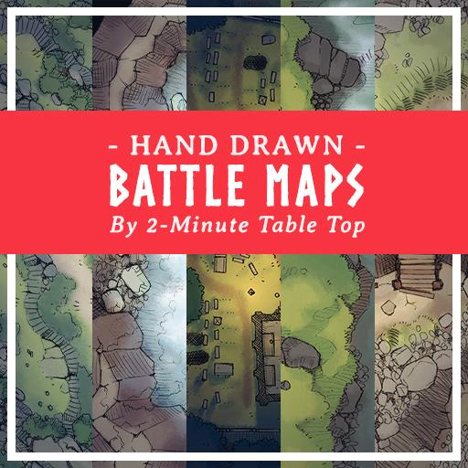 Hand Drawn Battle Maps Pack 2