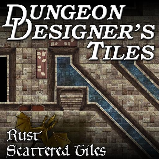 Dungeon Designers Tiles - Rust Scattered Tiles