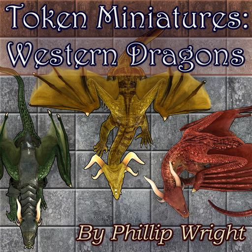Token Miniatures - Western Dragons