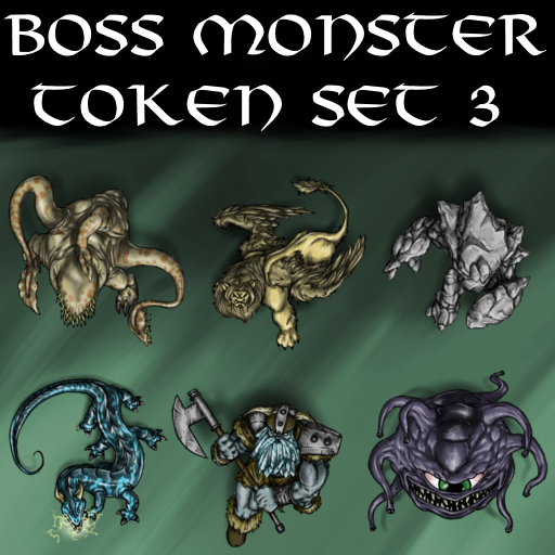 Boss Monster Token Set 3